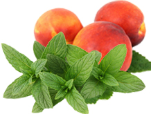 peach-and-mint-leaves-for-energy-and-aging