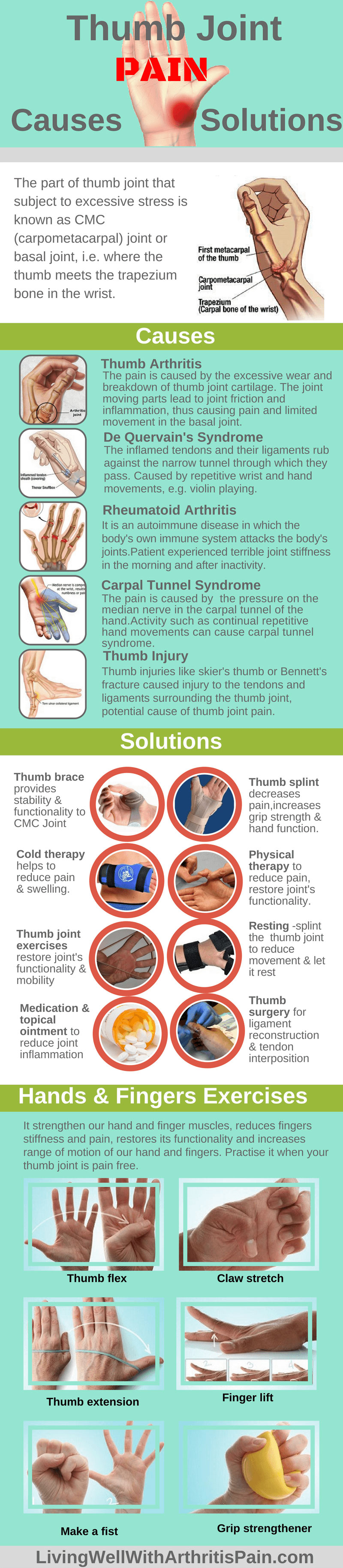 6 thumb joint pain relief exercises